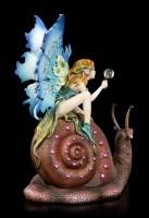 Fairy Figurine rides on Snail - Slow Ride