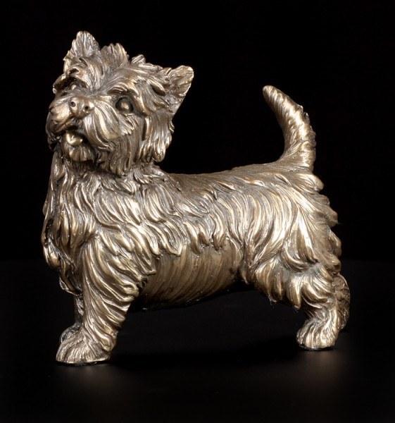 Hunde Figur - West Highland Terrier bronziert