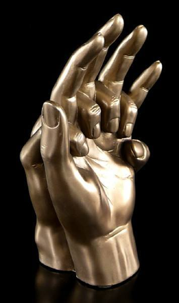 Hands Entwined Sculpture by Love Is Blue