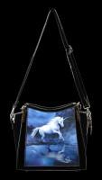 Lack Handtasche mit 3D Motiv - Moonlight Unicorn