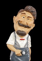 Funny Job Figurine - Barber with Hair Cutter