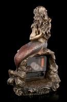 Tischuhr - Meerjungfrau Figur mit Baby