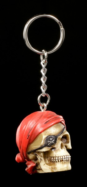 Skull Keyring - Pirate Head