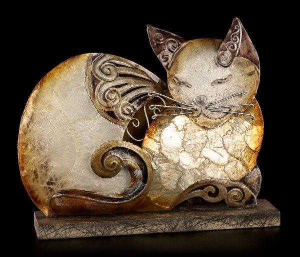 Metall Figur - Schlafende Katze