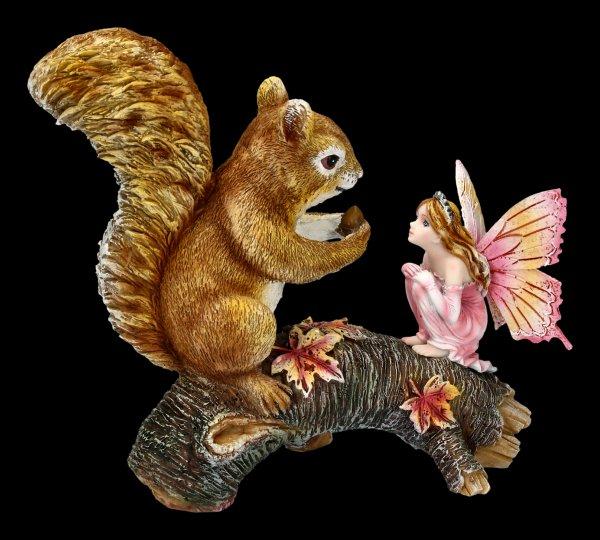 Waldfee Figur - Animalia mit Eichhörnchen