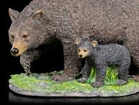Schwarzbär Figur mit Jungem