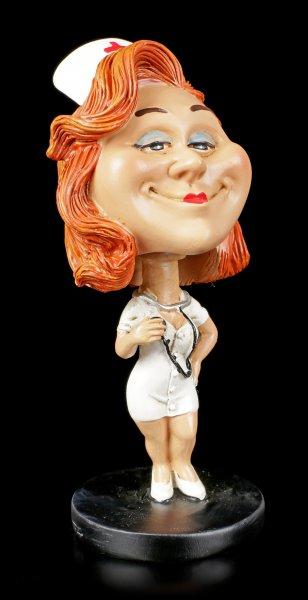 Funny Job Figur - Wackelkopf Krankenschwester