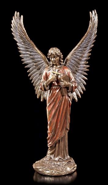 Engel Figur - Verkündigungsengel mit Kreuz