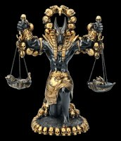 Anubis Figurine with Scale - Black-Gold