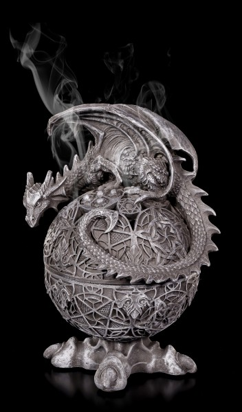 Incense Cone Holder - Dragon Globe