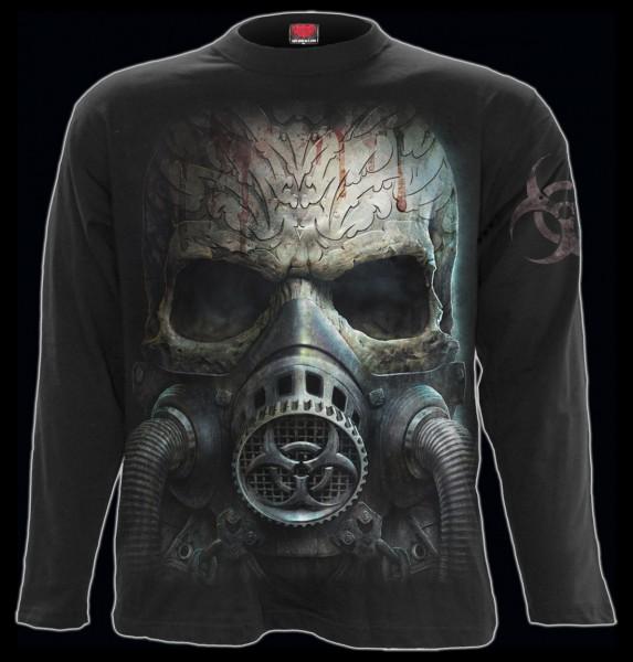 Spiral Totenkopf Langarmshirt - Bio-Skull