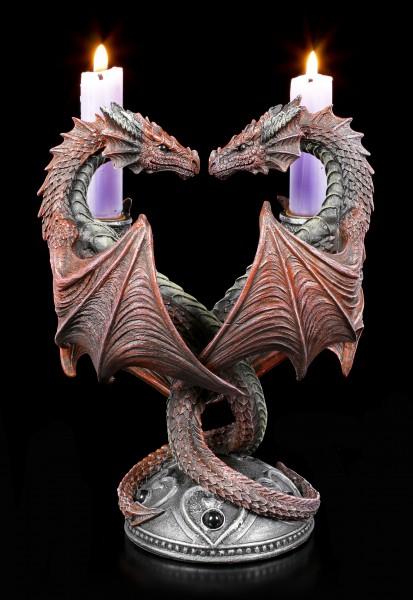Drachen Kerzenhalter - Dragon Heart - Valentine's Edition