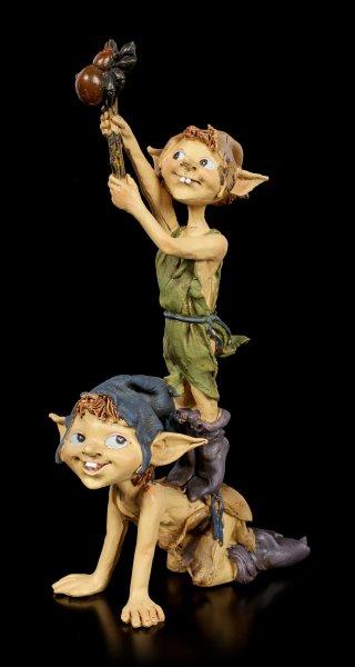 Pixie Kobold Figuren - Spinne am Stock
