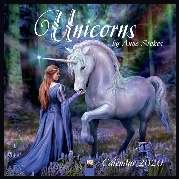 Anne Stokes Calendar 2020 - Unicorns