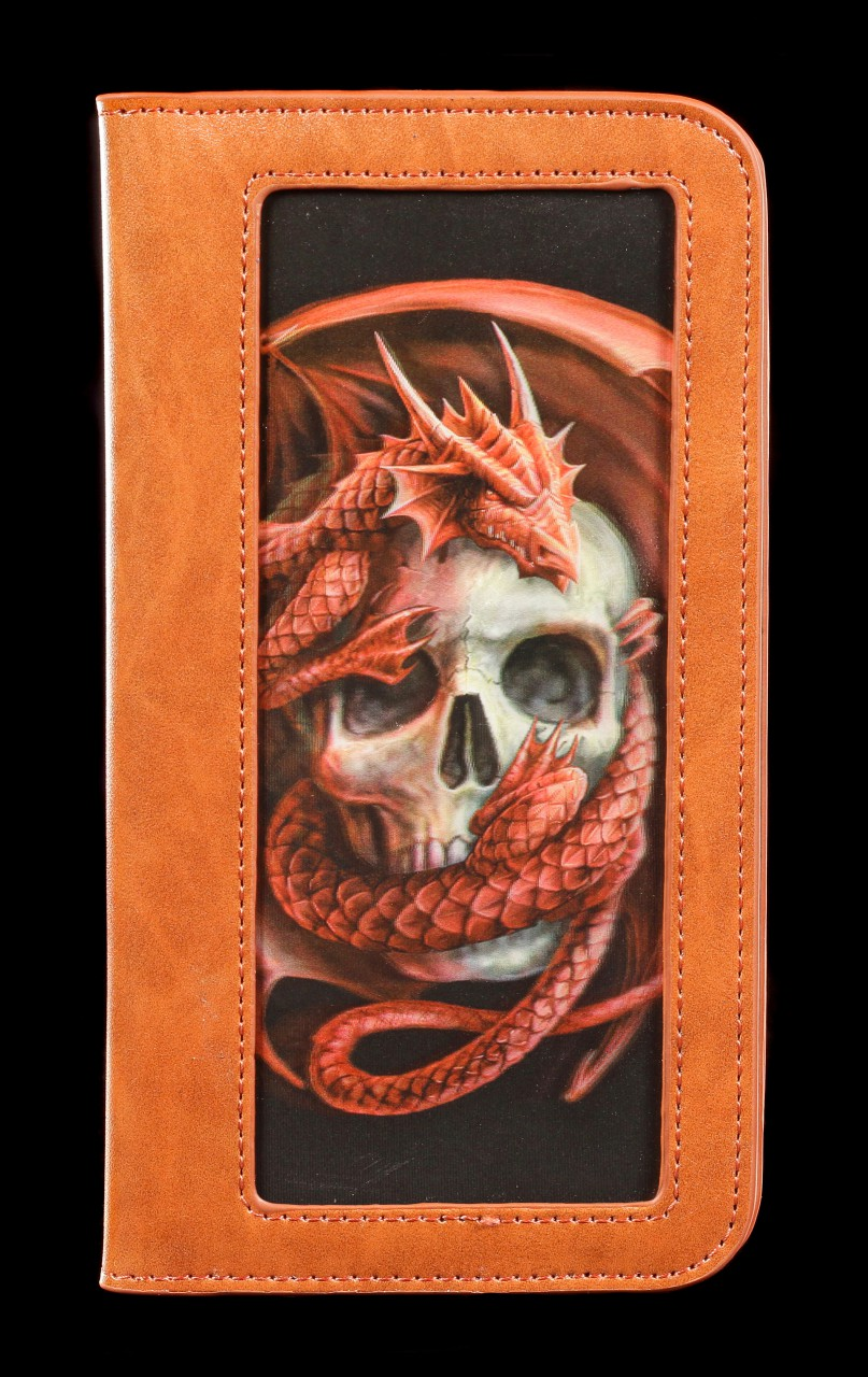 Handyhülle mit 3D Motiv - Dragon and Skull