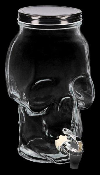 Skull Glass Jar with Dispenser - 5 Litre