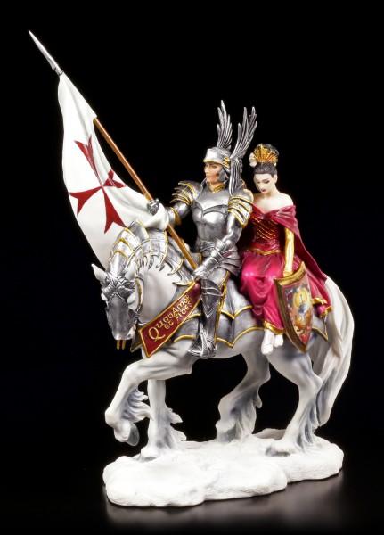 Ritter Figur mit Pferd und Lady - Faith