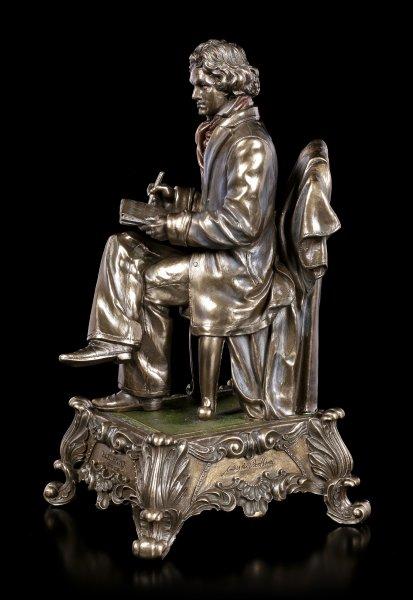 Beethoven Figur mit Partitur als Spieluhr