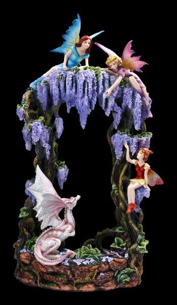 Fairy Figurines with Dragon - Fantasy Paradise