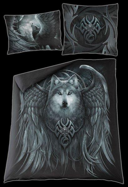 Fantasy Doppel-Bettwäsche - Wolf Spirit