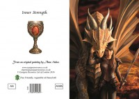 Dragon Greeting Card - Inner Strength