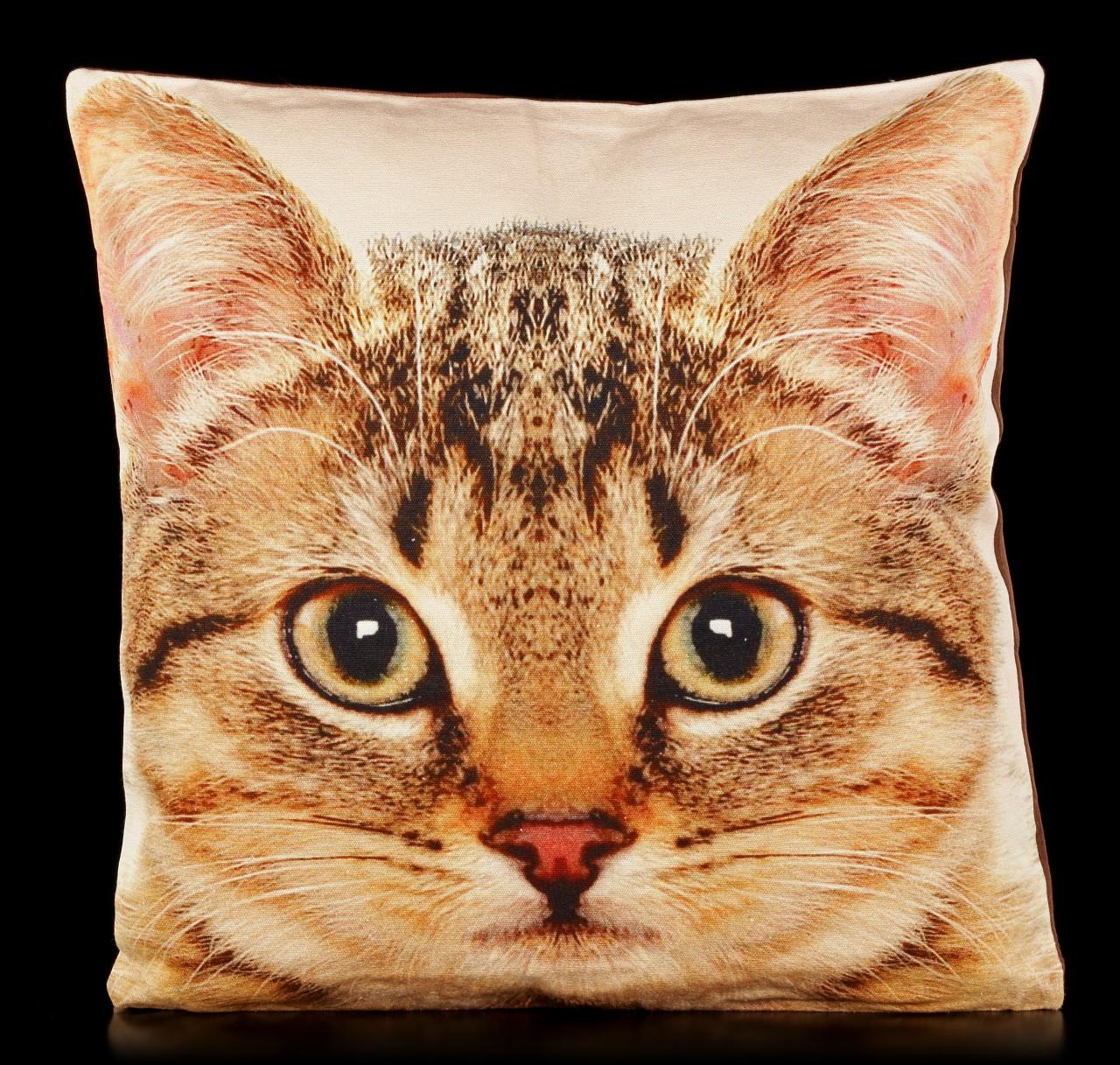 Tier Motiv Kissen - Katze