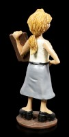 Funny Job Figur - Lehrerin hält Tafel