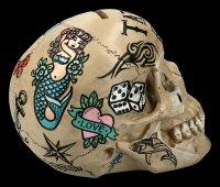 Skull - Tattoo Money Bank - bone colored