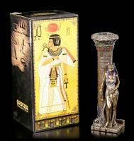 Ägyptischer Teelichthalter - Bastet an Säule
