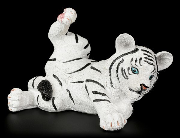 White Tiger Baby Figure - Playing on the Floor