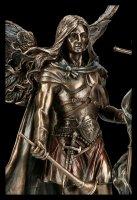 Erzengel Gabriel Figur mit Stab und Trompete - mittel