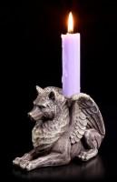 Candle Holder - Wolf Gargoyle