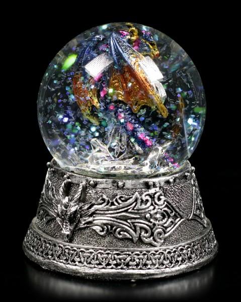 Dragon Snowglobe - Glitter Rain