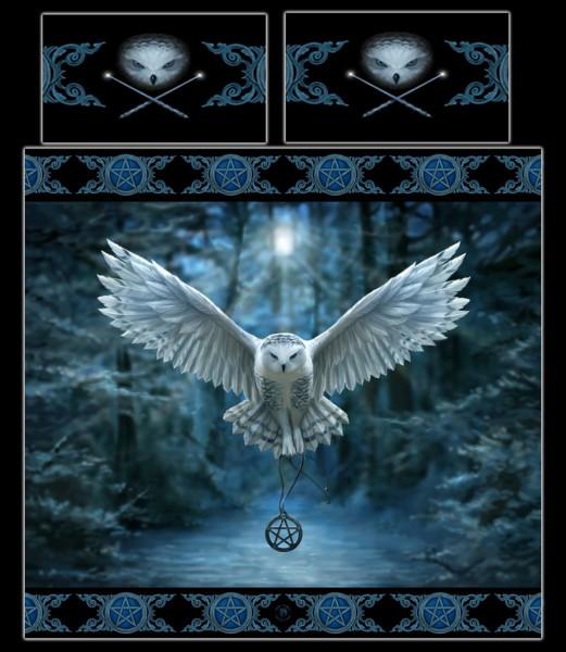 Fantasy Doppel-Bettwäsche Eule - Awaken Your Magic by Anne Stokes