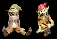 Pixie Figurines - Sitting on the Ground - Set of 2