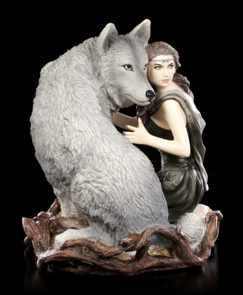 Anne Stokes Figurine with Wolf - Soul Bond
