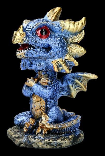 Wackelkopf Figur - Drache Bobling - blau