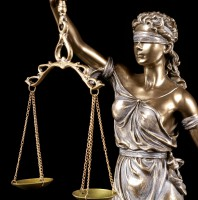Large Justitia Figurine - bronzed