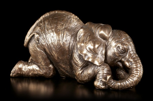 Small Elephant Figurine - Lying