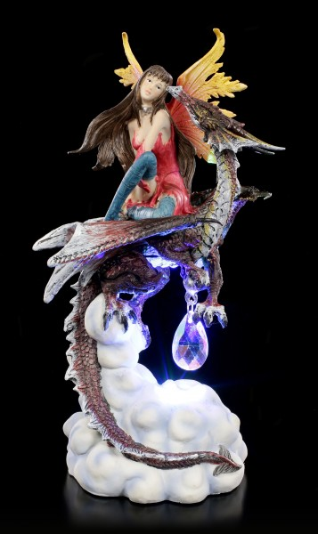 Fairy Figurine with Dragon LED - Fierce Companion