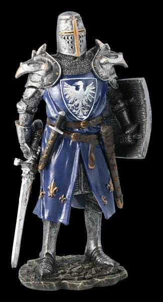 German Knight Figurine in Eagle Armor