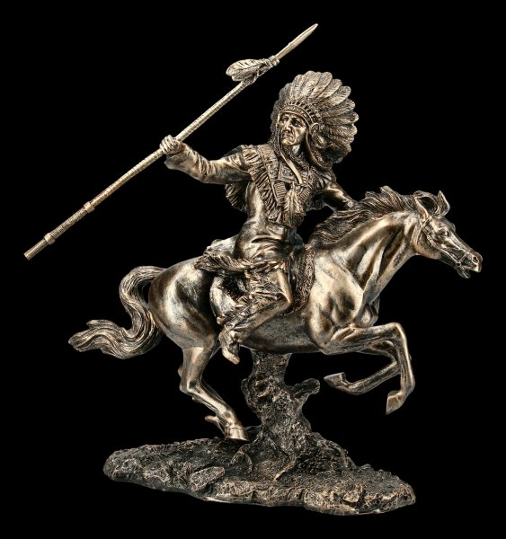 Indian Figurine - Chief riding with Spear