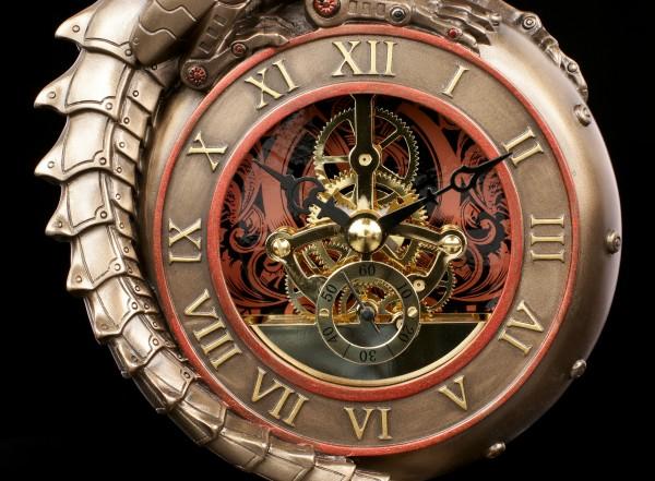 Steampunk Table Clock - Dragon Eye