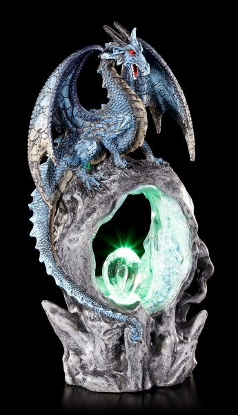 Dragon Figurine - Frostwing's Gateway with LED Lighting
