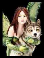 Fairy Figurine - Sina with Wolf