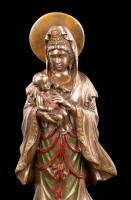 Kwan Yin Figur mit Kind auf Arm