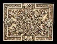 Azteken Schatulle mit Maya Kalender
