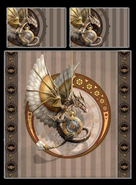 Drachen Doppel-Bettwäsche - Steampunk Dragon by Anne Stokes