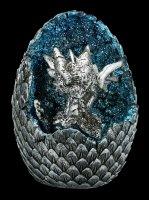 Dragon Figurine LED - Geode Home Set - grey