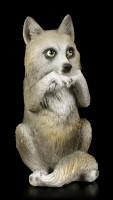 Drei weise Wolf Figuren - Nichts Böses